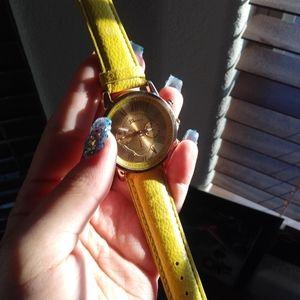 Yellow/Gold Geneva Women's Watch